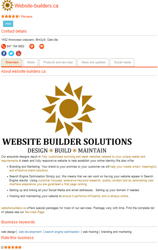 website-builders.ca Canadian Business Listing Directories at businessmention